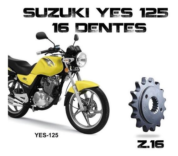 Pinhão Temperado Vaz 16 Dentes P/ Suzuki Yes125 / Intruder