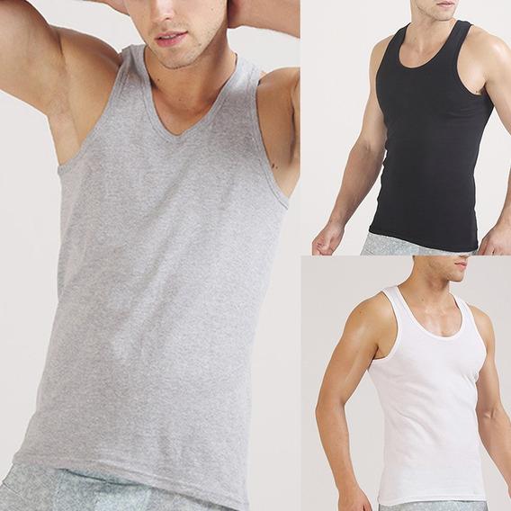 Camisetas Sin Mangas Hombre Moda Algodón Color Sólido Tank