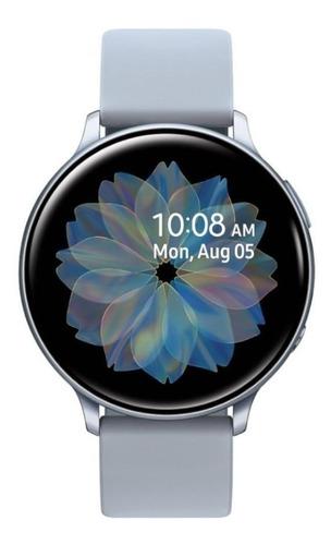 """Imagen 1 de 5 de Samsung Galaxy Watch Active2 (Bluetooth) 1.4"""" caja 44mm de  aluminio  cloud silver malla  cloud silver de  fluoroelastómero y bisel  cloud silver SM-R820"""