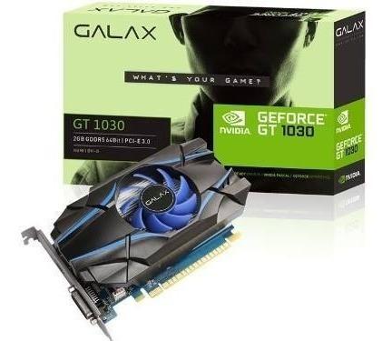 Placa De Video Galax Gt 1030 2gb Ddr5 Geforce Nvidia 64bit