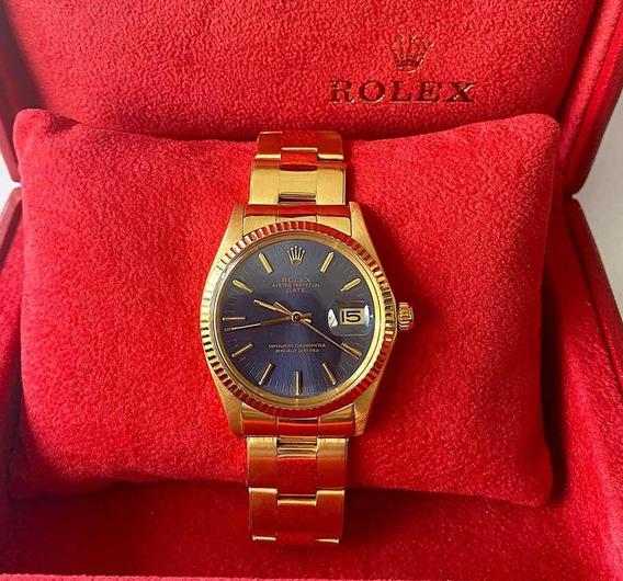 Rolex Date Todo Ouro Amarelo 34mm , Impecável ! Promoção