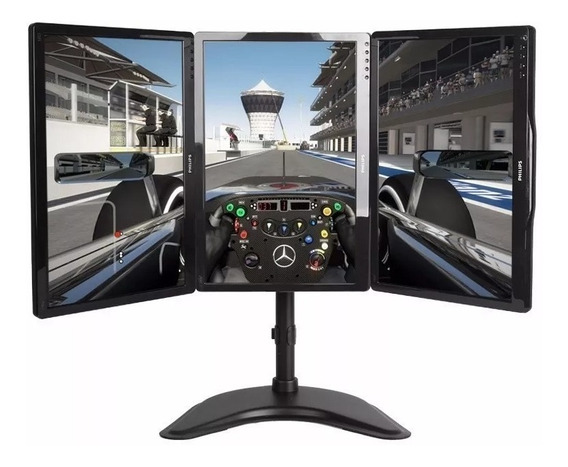 Suporte Para 3 Monitores 15 A 27 Ideal P/ Gamer T1236n ELG