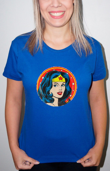 Baby Look Ou Camiseta Mulher Maravilha 02