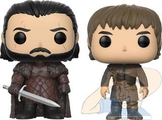 Figura Jon Snow Y Bran Stark Game Of Thrones Funko Pop
