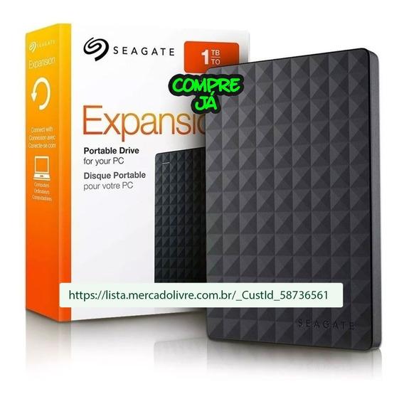 Hd Externo 1 Tb Seagate Expansion 2.5 Usb 3.0 Preto