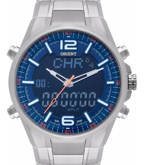 Relógio Anadigi Esporte Em Aço Orient Masculio Mbssa048