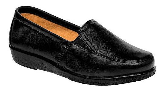 Zapato Piso Florenza Negro Piel Mujer Cerrado D38337 Udt