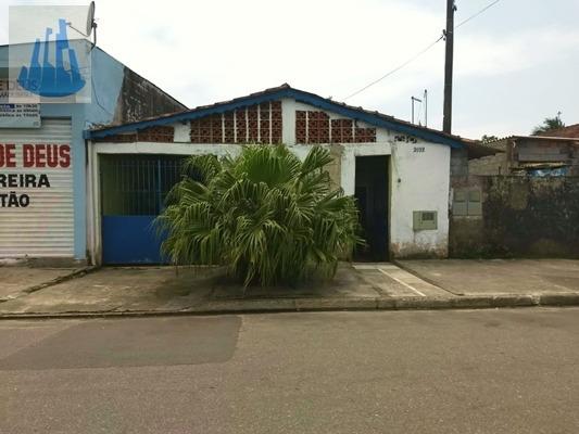 Casa Com Salão Comercial Lote Inteiro Em Mongaguá! - 3209
