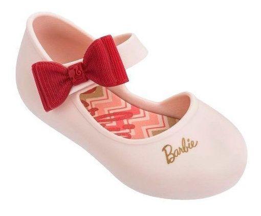 Sapatilha Infantil Bebê Laço Barbie Happy Nude Marinho 17/25