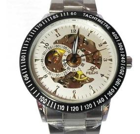 Relógio Masculino Automático De Pulso Aço Inox Esqueleto Nfe