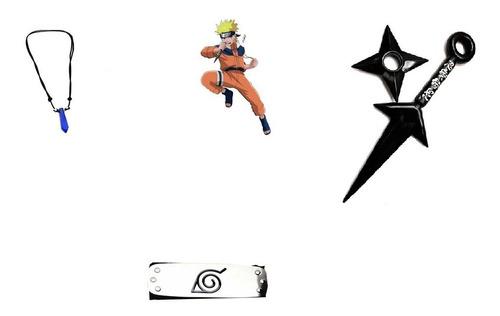 Kit Minato - Kunai + Shuriken + Bandana + Colar Naruto