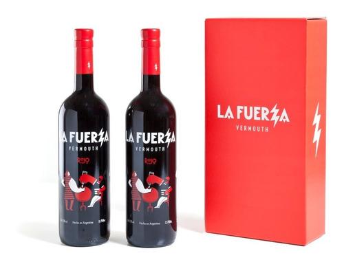 Imagen 1 de 5 de Caja De 2 Botellas La Fuerza Rojo