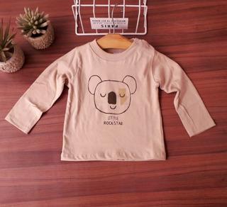 Remera Bebe Manga Larga Koala