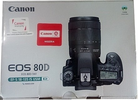 Câmera Canon 80d Nova, Na Caixa, Com Garantia Original