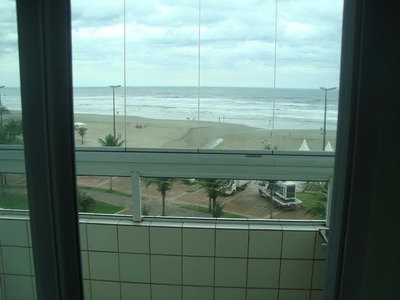 Apartamento Frente Para O Mar 1 Dormitórios Só 190 A Vista