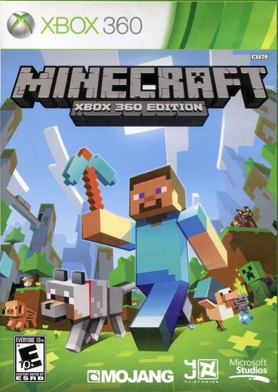 Jogo Minecraft Xbox 360 Edition X360 Original Português Game