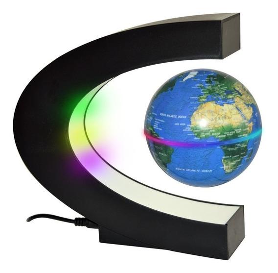 Globo Terráqueo Planeta Tierra Flotante Levitador Con Luz Decoracion /e
