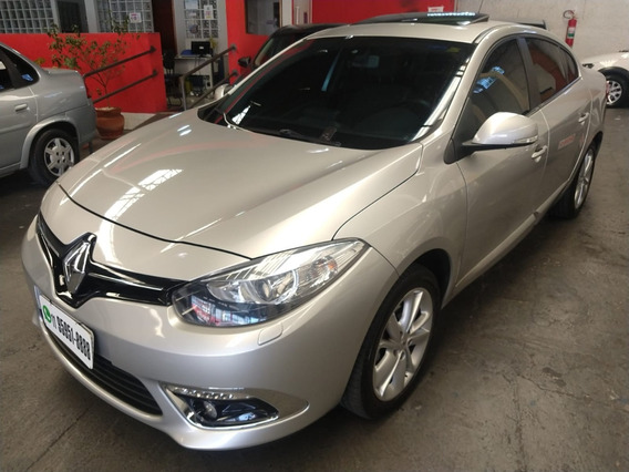 Fluence Sedan Privilege 2.0 Flex 2015 Prata Completo Teto !
