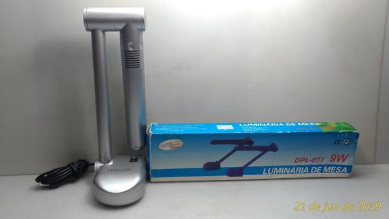 Luminária Articulada Mesa Pl-9w Whitelux Eletronic 220v