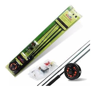 Kit Pesca Fly Fishing Sumax 7/8 Completo P/ Iniciantes