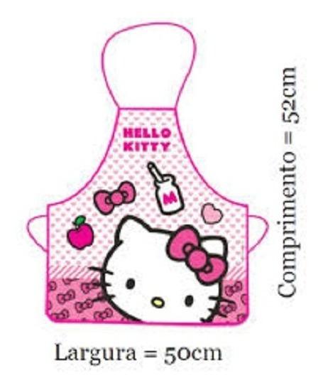Avental Infantil Para Escola E Pintura Hello Kitty - Gedex