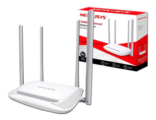 Router Wifi 300mb Rompe Muro 4 Antenas 5dbi Mw325r Mercusys