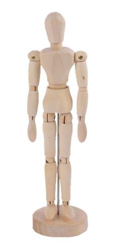 Maniquí Articulado De Madera Para Dibujo-figura Humana 30cm