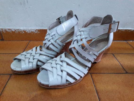 Sandalias Mujer Tipo Retro Vintage Numero 35,5 Taco Chino