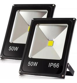 Kit 2 Refletor Led 50w Holofote Branco Frio Prova D