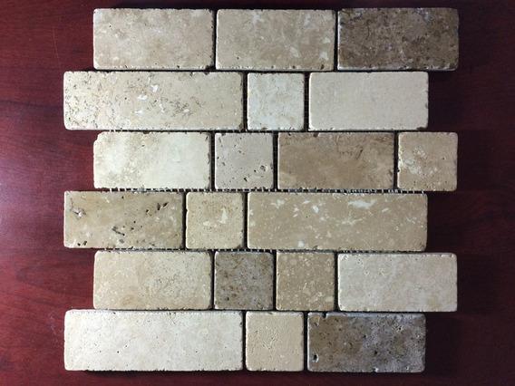 Malla Mosaico Tapete Marmol Travertino Multipattern Blend