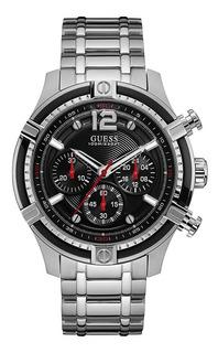 Reloj Guess W0968g1 Crono Hombre Acero Agente Oficial