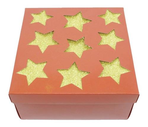 Caixa De Natal Montável Presente Lembrancinha 20x20x10 Cm
