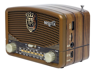 Radio Portatil Nisuta Bluetooth Micro Usb Aux Recargable