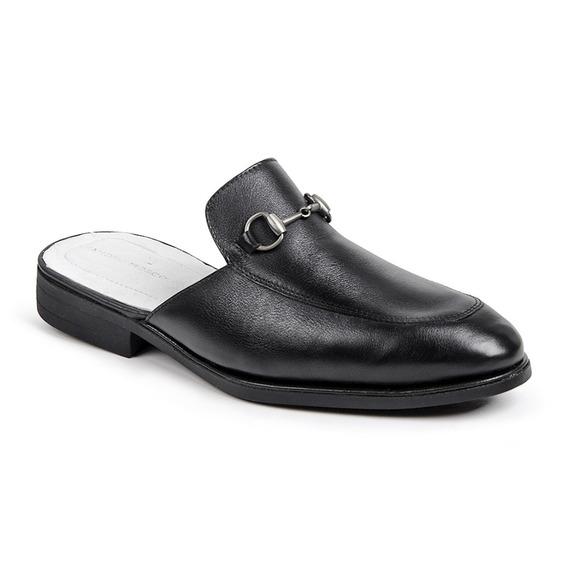 Sapato Masculino Sandro Moscoloni Mule Colection Preto
