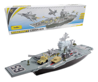 Barco Naval Porta Aviones Militar Maqueta Fuerzas Navales