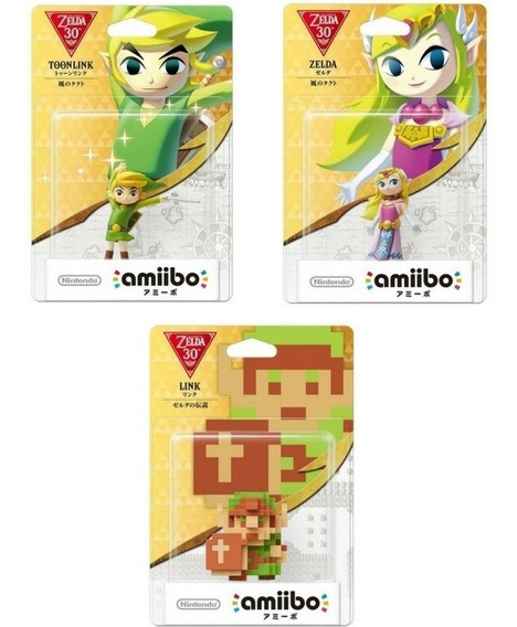 Amiibos Toon Link & Zelda E Link 8 Bit Wii U 3ds Switch 30th