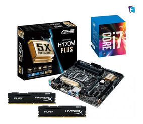 Kit Intel Core I7 7700 Asus H170m Plus Hyper X 2x 4gb Fury I