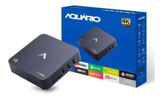 Tv Box Aquário Stv-2000 Android Netflix 4k Youtube Smart Tv