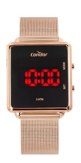 Relógio Condor Quadrado Feminino Mesh Digital Cojhs31bab/4j