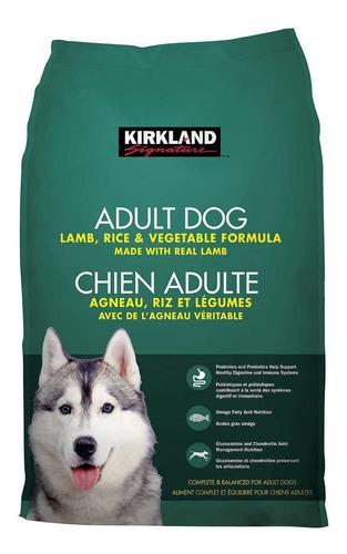 Imagen 1 de 1 de Alimento Kirkland Signature Super Premium para perro adulto sabor cordero/arroz/vegetales en bolsa de 18kg