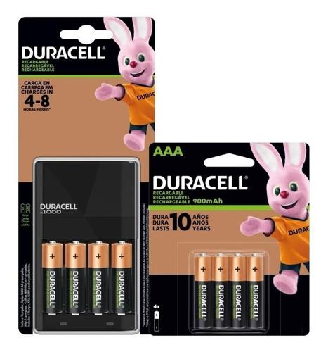 Kit Duracell 8 Pilas - 4 Aaa + 4 Baterias Aa Con Cargador