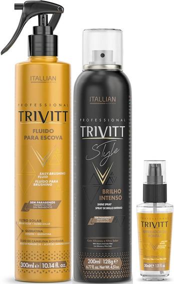 Kit Finalizador Trivitt 3 Produtos Itallian Hairtech