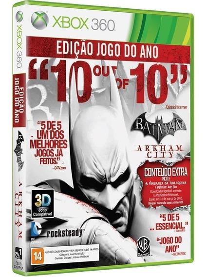 Jogo Batman Arkham City Game Of The Year Xbox 360 Legendado