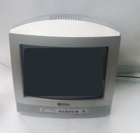 Televisão Tubo Philco 14 Polegadas Com Controle Remoto