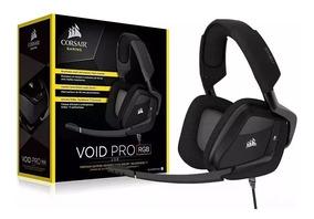 Headset Corsair Void Pro Rgb Com Microfone Retrátil/ilum-usb