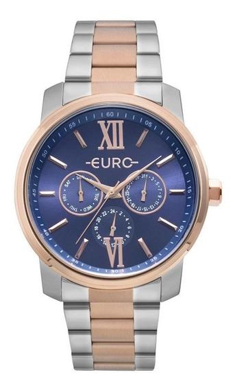 Relógio Euro Feminino Prateado E Rosé Eu6p29aketd/5a