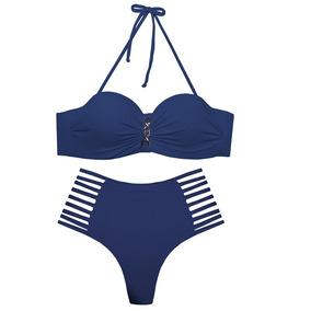 Biquini Com Bojo Tanga Hot Pants Cintura Alta Moda 2019 C3