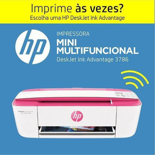 Multifuncional Wireless Deskjet Ink Advantage 3786 Pink