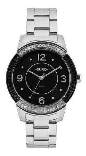 Relógio Euro Feminino Color Mix Glam Prata Eu2036ymp/3p