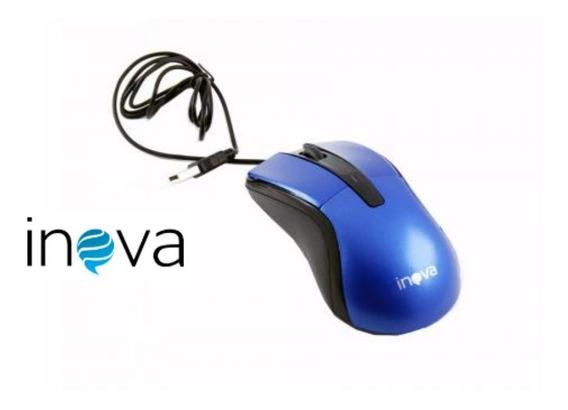 Kit 10 Mouse Óptico Inova Cabo Usb-6920